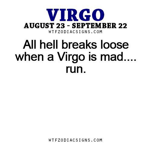 All hell breaks loose when a Virgo is mad…. run. -... - fun zodiac ...
