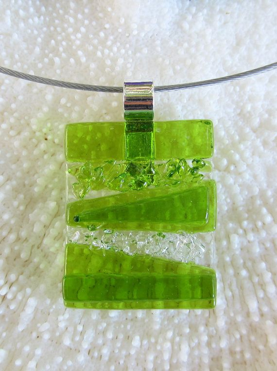 Verde fundido colgante de vidrio textura