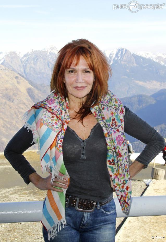 PHOTOS - Clémentine Célarié lors du Festival de Luchon, le 11 février 2011