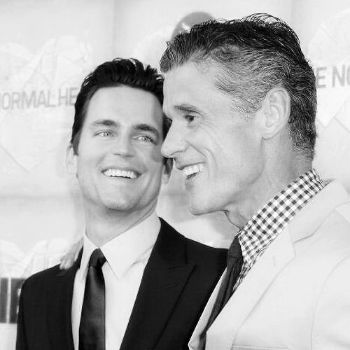 Matt Bomer and Simon Halls at The Normal Heart premiere in LA (May 19, 2014)
