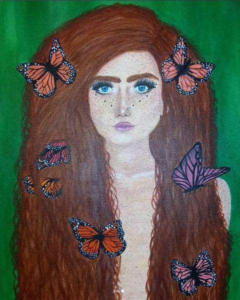 Harmony Nice acrylic on canvas painting by me: (@maggie_creates on IG) 2/2