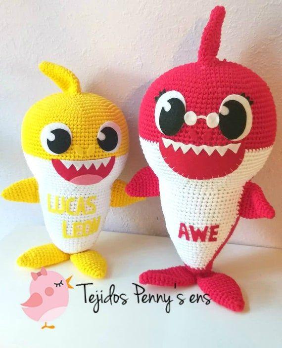 Crochê e Amigurumis | Bebê tubarão, Tubarão de crochê, Amigurumi | 705x570