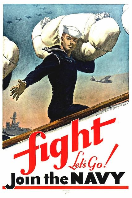 EEUU, 1941. Método americano de reclutamiento de Marines. WW2 .