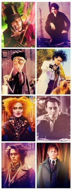 Johnny Depp ♥ First 8 films with Tim Burton