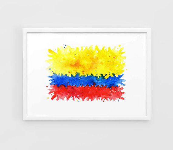 Columbia Flag Copa America 2016  A3 Wall Art Print by NazarArt