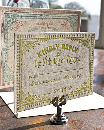 Old Fashioned Style Response Card & Invite