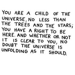 You are a child of the universe