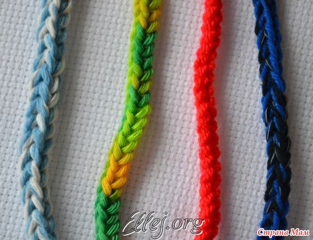 Очень простой шнур крючком МК