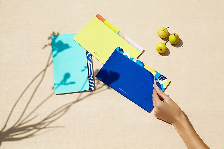 Octaevo_Creative_Notes Home and office products from a Barcelona stationery brand, infused with Mediterranean spirit, including paper vases, notebooks, penholders and lobster-shaped bookmarks in vibrant shades reminiscent of sea and sand.