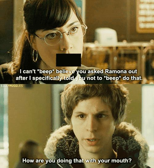 Scott Pilgrim - Even though I've seen this movie 100 times I still kill myself at this part