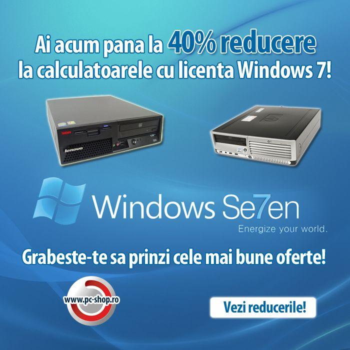 Astazi este Ziua Internationala a Fericirii! Ca sa iti dam mai multe motive sa fii fericit, am redus cu pana la 40% preturile la calculatoarele cu licenta Windows 7!  Grabeste-te sa prinzi cele mai bune oferte!