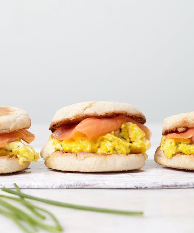 Recipe: Crème Fraîche Scrambled Egg and Smoked Salmon Sandwiches | Kitchn