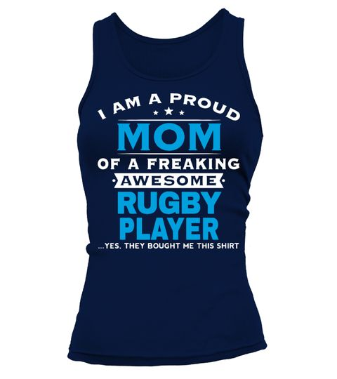 # Custom Tank Tops .  ***Rugby Mom Tank Top***Guaranteed safe and secure checkout via:      PayPal/Visa/MasterCard  Click the biggreenbutton to pick your size/color and order.  Store :https://www.teezily.com/stores/t-shirts-store  100% preshrunk cotton.Imported; processed and printed in the U.S.A.Buy 2 and mores save your shipping cost :)