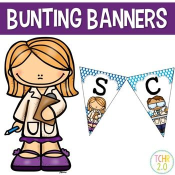 this product contains eight banners welcome reading writing math science social studies spelling word wall a blank edi science word wall banner bunting banner pinterest