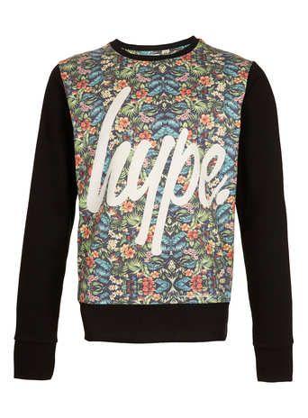 Hype – Sweatshirt 'Forêt Tropicale' - Sweatshirts et Sweats à capuche pour Homme   - Vêtements Homme
