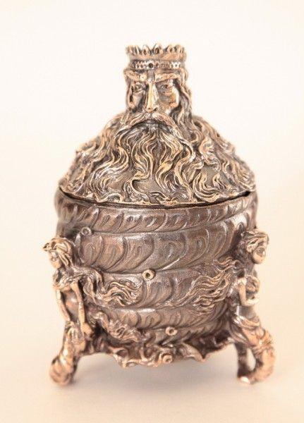 Neptune & Mermaids Bronze Bell- Box  13 cm  Колокольчики отлитые в Украине