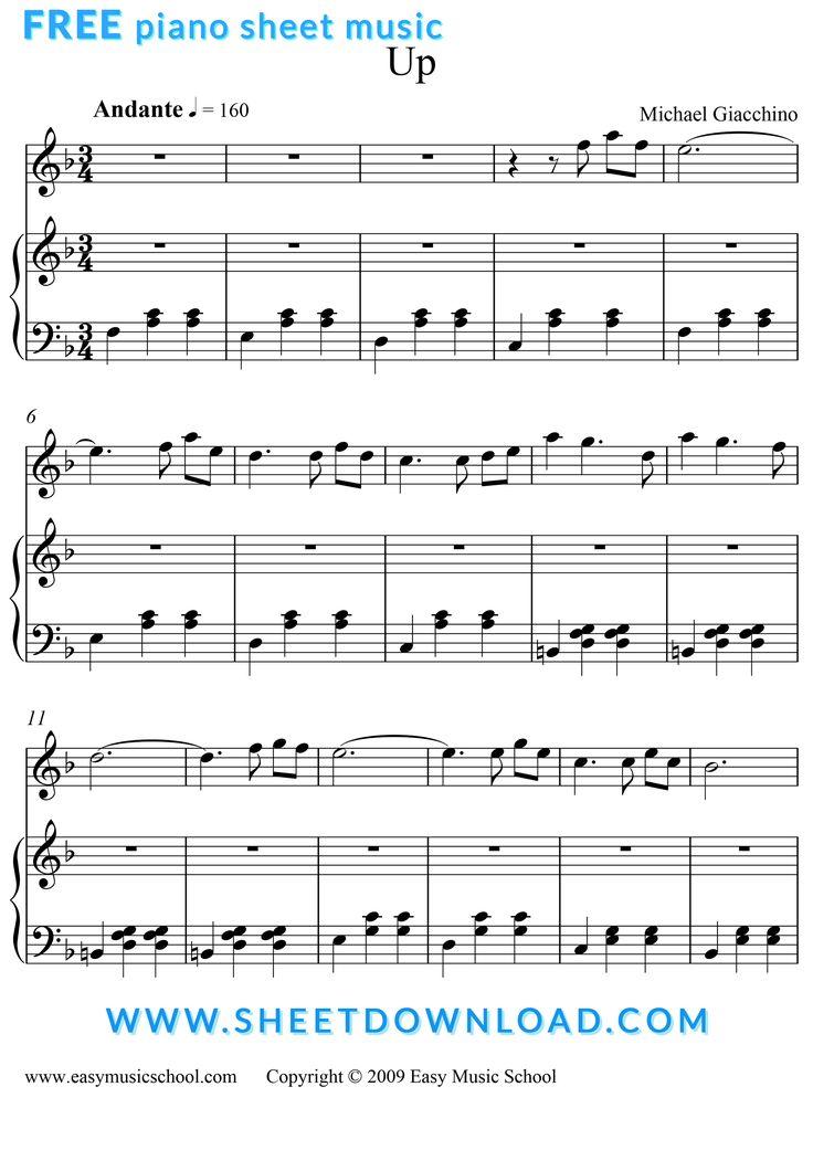 View Download And Print Married Life Piano Sheet Music From