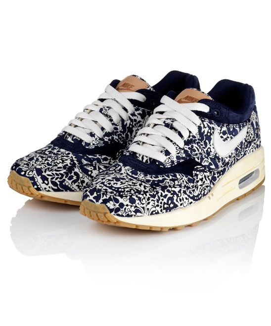 Imperial Purple Liberty Print Air Max 1 Trainers, Nike x Liberty