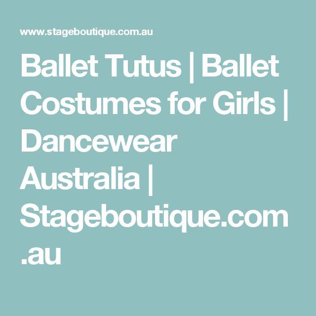 Ballet Tutus | Ballet Costumes for Girls | Dancewear Australia | Stageboutique.com.au