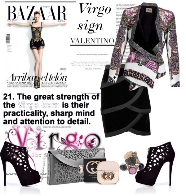 """Virgo sign"" by vedranav ❤ liked on Polyvore"