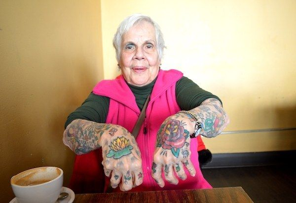 """Like that they'll get saggy. - 24 Tattooed Seniors Answer The Question: """"What Will It Look Like In 40 Years?"""""""