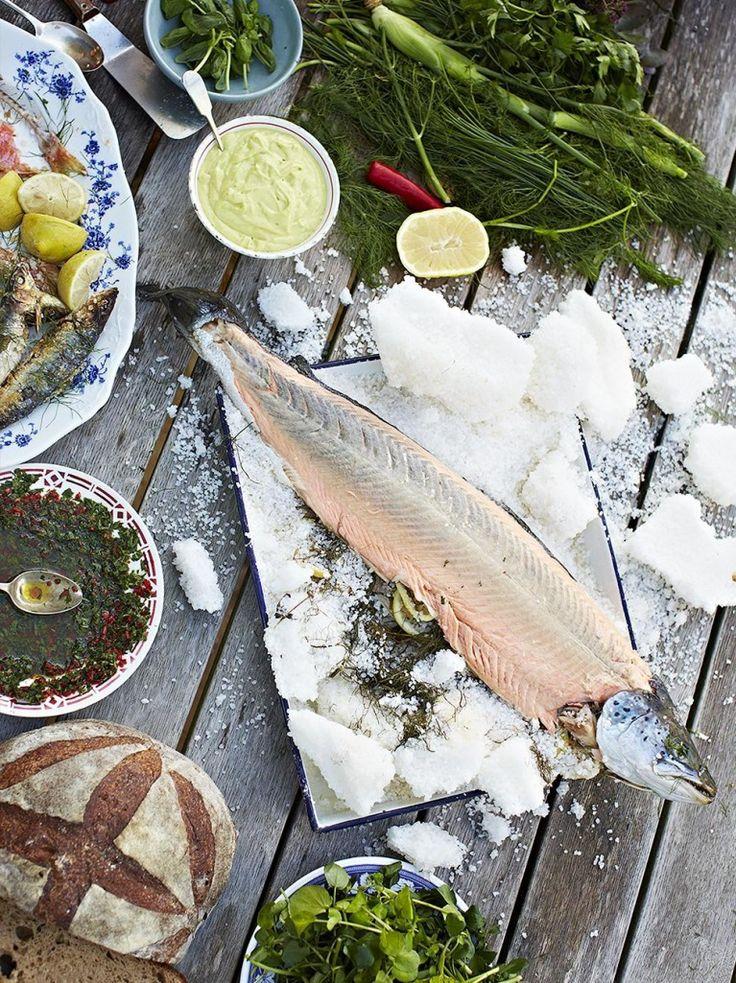 Whole baked salmon in salt | Jamie Oliver