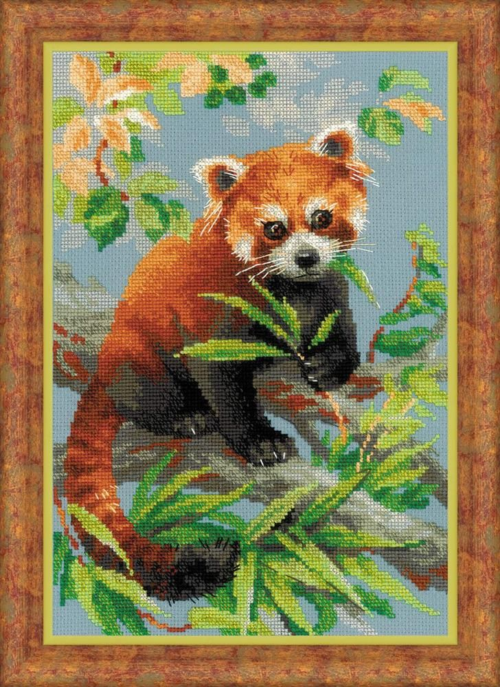Red Panda by Riolis, counted cross stitch kit