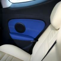 Renault megane coupe dynamique artisan cream with blue sections  stitching 007