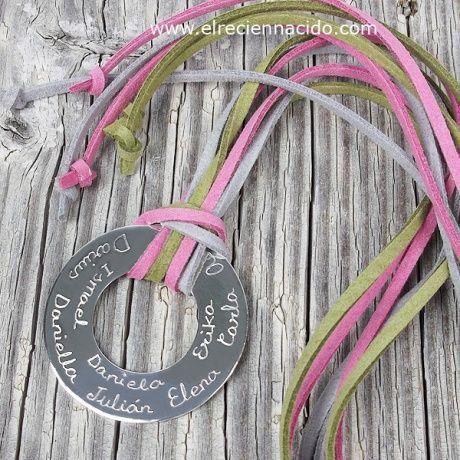 Collar Círculo plata grande personalizado   Joyas grabadas   Regalos para madres   Regalos mamás precio 74 €
