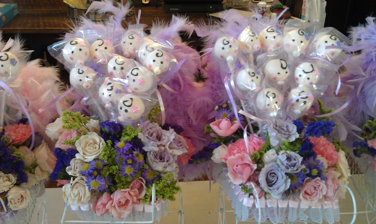 Cake Pop Centerpieces For Baby Shower : Baby Shower Cake Pop Centerpiece My Cake Pops - Cake ...
