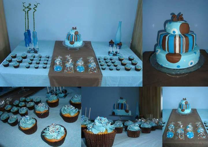 Dessert Table Blauw/Bruin