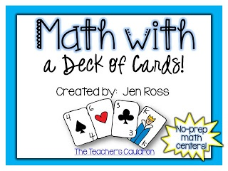 TONS of activities to do with a deck of cards!