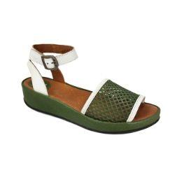 Fly London Beda Sandal - Green White #FlyLondon
