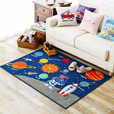 Cheap Area Rug Buy Quality Nursery Directly From China Rugs Suppliers Blue Kids Fun Solar System Children Carpet