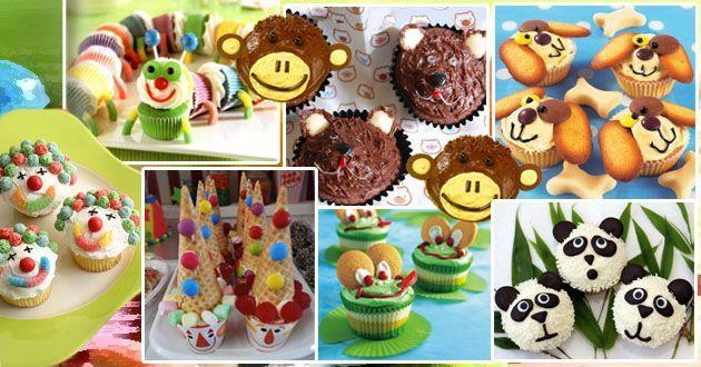 Τα παιδικά cupcakes είναι απλά φαντασία! Μια βόλτα σε καταστήματα με ζαχαρωτά και μια ματιά στα παιχνίδια του παιδιού μας, θα μας εμπνεύσει, για να δημιουργήσουμε αριστουργήματα.  Θα σας δώσω 2 συνταγές, που στην πραγματικότητα είναι μια και μοναδική συνταγή, για 12 cupcakes. Στη μια συνταγή χρησιμοποιώ κακάο, οπότε το κέικ μου γίνεται …