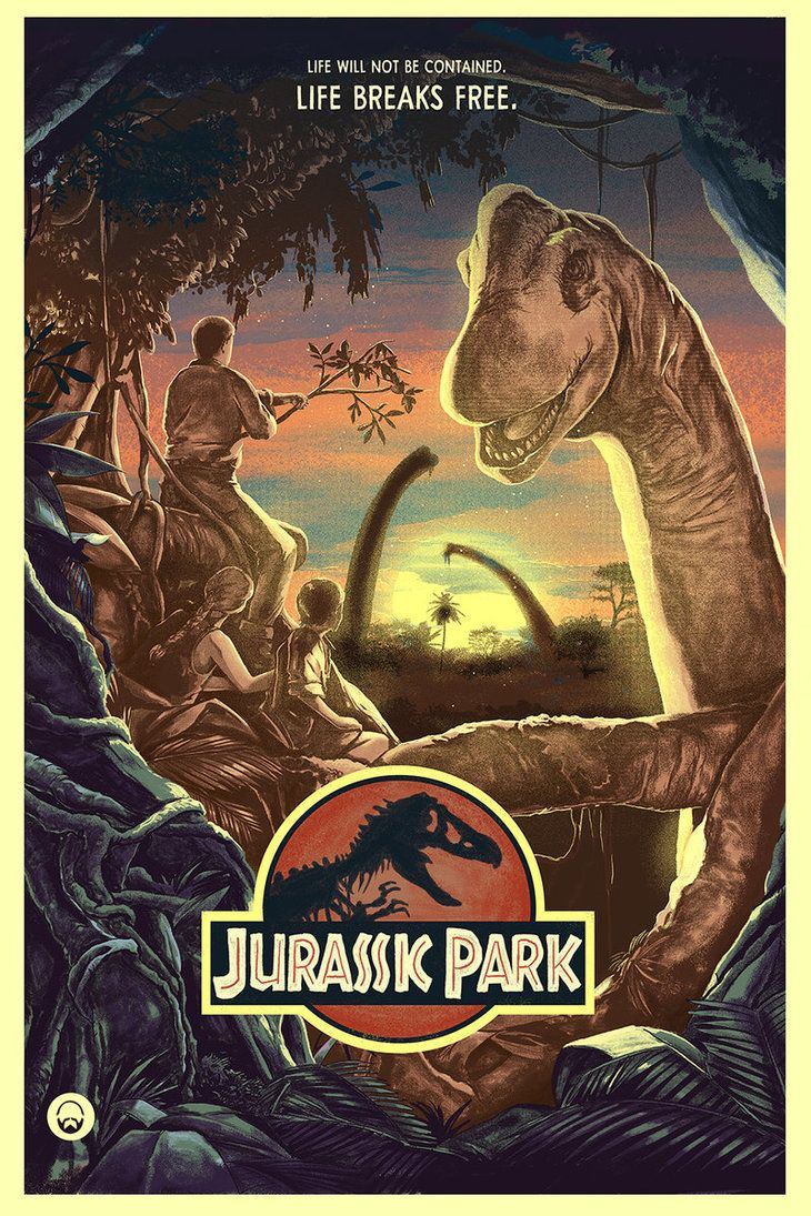 "pixalry: "" Jurassic Park - Created by Nicolas Barbera"