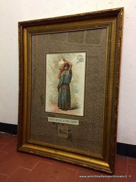 Oggettistica d`epoca - Stampe e dipinti Rara pubblicità Ferro China Bisleri - Antica litografia della pubblicità Bisleri Immagine n°1