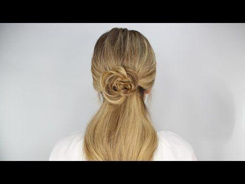 Tutorial de peinado de cola de caballo con roseta - http://www.entrepeinados.com/tutorial-de-peinado-de-cola-de-caballo-con-roseta.html
