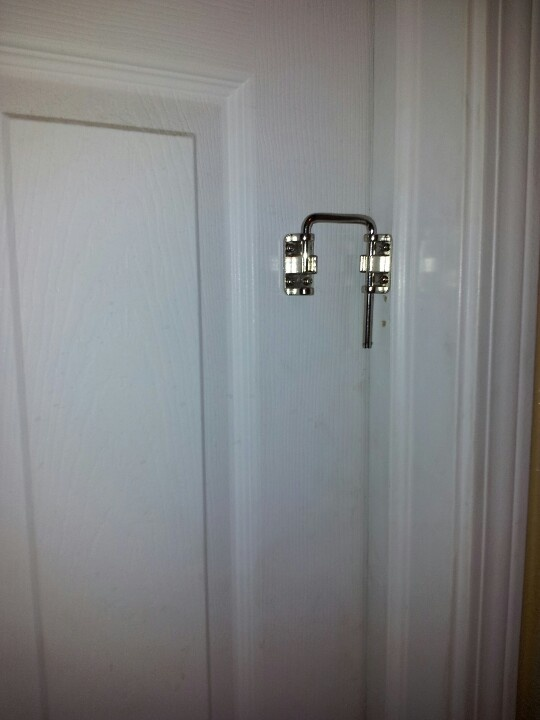 Patio Door Locks Work Great On The Bathroom Door To Keep