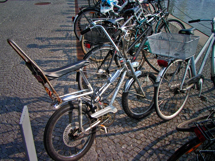 I saw this bike parked outside the Danish Royal Library on Copenhagen. The gear shifter is priceless.