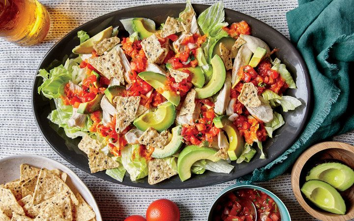 Shredded Chicken and Avocado Nacho Salad from the Cooking Light Diet