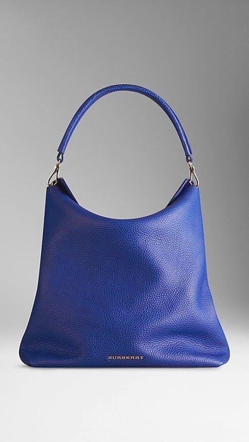 Burberry Leather Medium Cale Hobo   Handbag in Brilliant Blue  hobohandbags  diy hobo bag d0ed7998cd937
