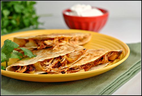 BBQ Chicken and Pineapple Quesadilla | I'd eat it... | Pinterest