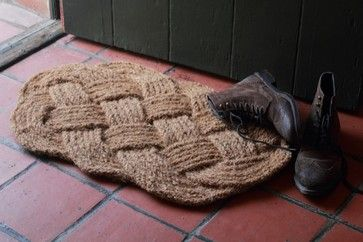 Knotted Jute Doormat contemporary doormats