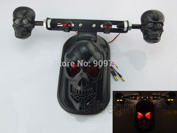 Cheap atv gear, Buy Quality light connect directly from China atv gas Suppliers: Free Shipping Quad ATV Black Skull Rear Brake Tail Plate Lights For Harley Sportster Bobber Honda Yamaha Kawasaki Suzuki Custom