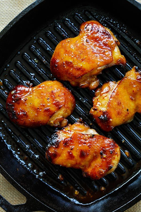 Honey Turmeric Chicken - sticky, savory and sweet honey chicken marinated with turmeric and cooked on skillet. Quick and easy dinner in 15 mins   rasamalaysia.com
