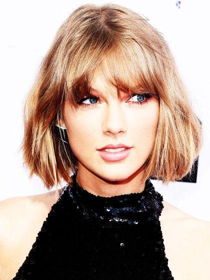 Bob + Pony. Nach dem Shag trägt Taylor Swift ihre Haare jetzt wieder etwas kürzer zum Bob.