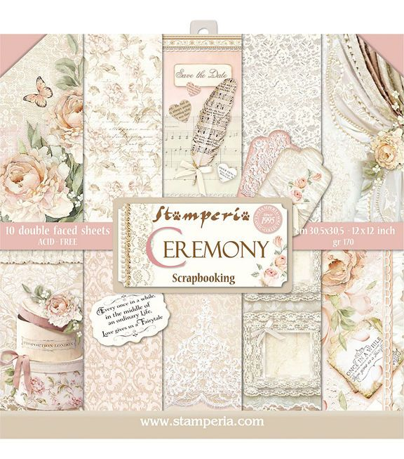 Stamperia Double Sided Paper Pad 12 X12 10 Pkg Ceremony Joann Paper Pads Vintage Wedding Cards Scrapbook Paper
