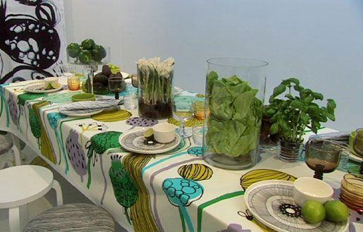 Marimekko Tableware with iittala, cool combinations for dining