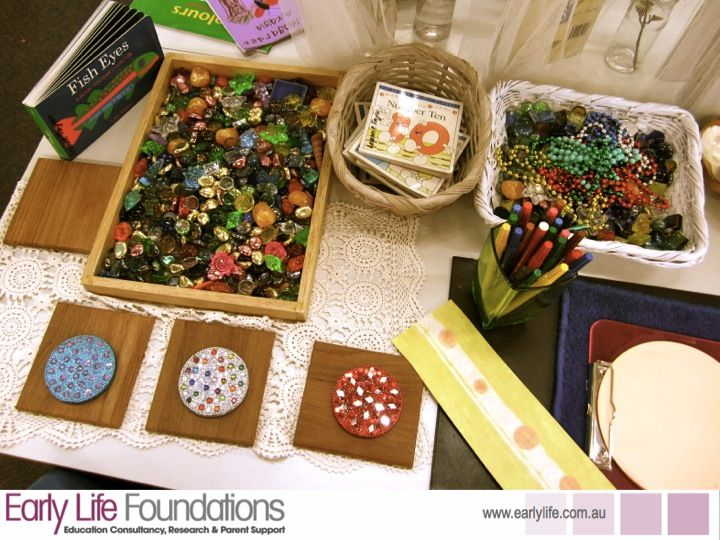 """Gorgeous materials to explore & create transient art with - from Walker Learning School ("""",)"""